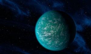 Kepler-22b: artist's illustration