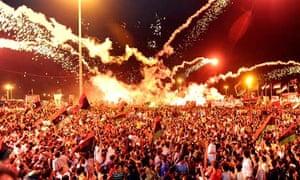 Libyans celebrate rebel victories benghazi