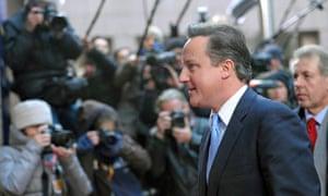 David Cameron arrives at a European Union summit