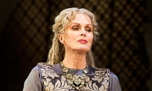 Lumley as Eleanor of Aquitaine in The Lion In Winter.