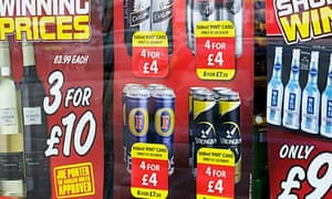An off-licence sells cheap alcohol