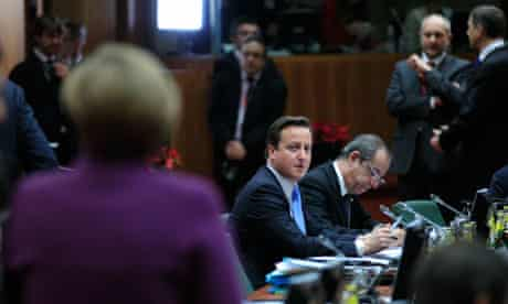 David Cameron at EU summit in Brussels