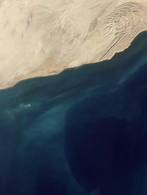 Satellite Eye on Earth: a mud volcano off Pakistan