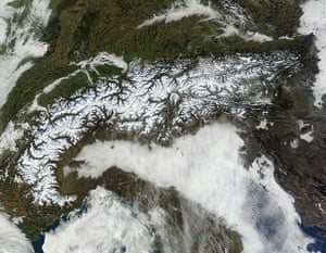Satellite Eye on Earth: The Alps form a crescent