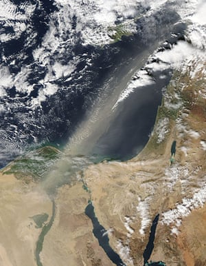 Satellite Eye on Earth: A dust storm blew out of Egypt
