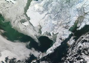 Satellite Eye on Earth: Winter snow blankets southwest Alaska