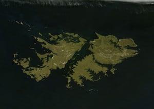 Satellite Eye on Earth: The green lands Falkland Islands