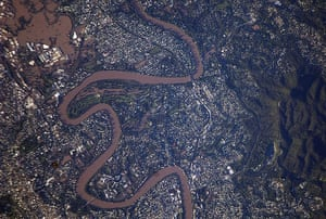 Satellite Eye on Earth:  flooding in the suburbs of Brisbane, Australia