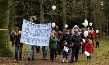 Forest of Dean sell-off protest