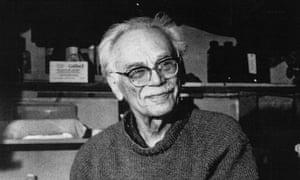 Milton Rogovin in his darkroom.