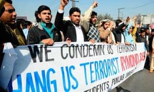 Pakistani students Raymond Davis