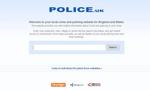 The police.uk website