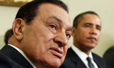 Hosni Mubarak and Barack Obama in Washington, 2009