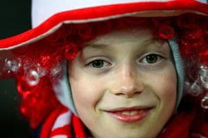 Denmark v England: Young Denmark fan