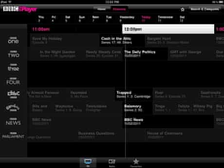 BBC iPlayer iPad app 2
