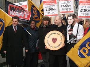 War on Want:  jammy dodger to George Osborne