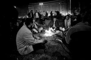 Hossam el-Hamalawy: Camping out in Tahrir Square