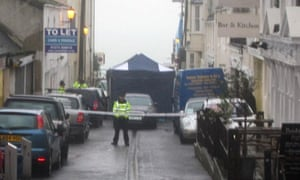 Police attend the scene in Rock Place, Brighton