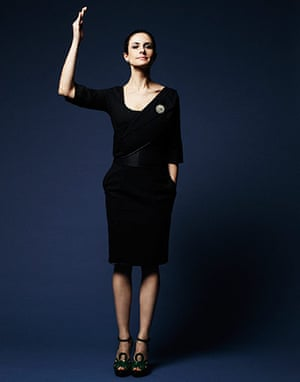 Livia Firth eco-fashion: Custom upcycled suit dress