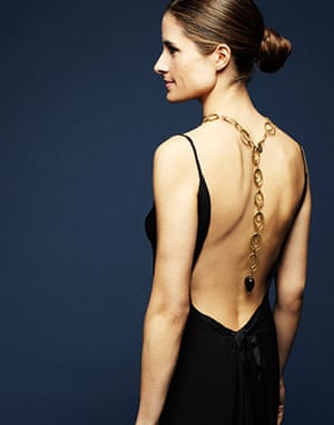 Livia Firth eco-fashion: Custom black open-back gown