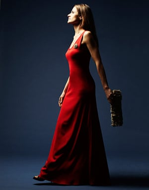 Livia Firth eco-fashion: Upcycled red gown