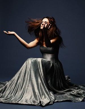 Livia Firth eco-fashion: Indigo Ahimsa silk and hemp gown
