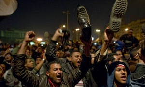 Demonstrators in Tahrir Square