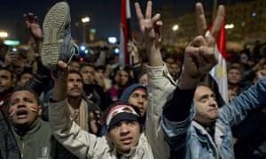 Egyptian anti-government demonstrators f