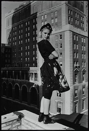 Women Who Rock: Madonna on the roof of Kate Simon's studio, 1983