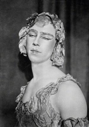 E.O. Hoppé: Vaslav Nijinsky as Spectre de la Rose in Le Spectre de la Rose, 1914