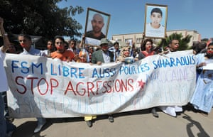 Dakar Social Forum: Activists for the independence of the Western Sahara protest