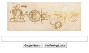 Google doodle, Thomas Edison
