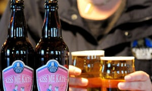 Kiss Me Kate beer, specially-brewed for royal wedding of Prince William and Kate Middleton