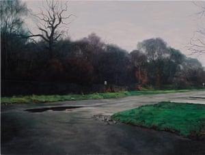 George Shaw: Landscape with Dog Shit Bin