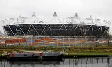 London 2012 Olympic Stadium under construction in Stratford