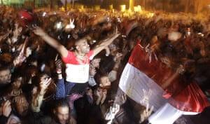 Mubarak resigns: Egyptians celebrate the news of President Mubarak's resignation