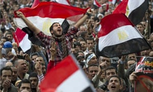 Egyptian anti-goverment demonstrators