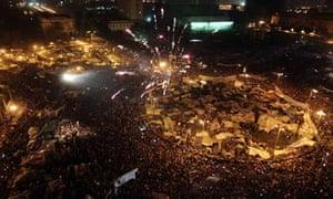 Egyptian president Hosni Mubarak resigns