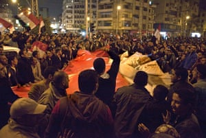 Sean Smith in Cairo: Sean Smith witnesses the celebrations in Cairo