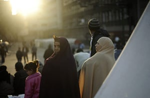 Egypt Day 19: The sun rises on anti-government protesters in Tahrir Square