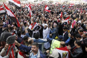 Egypt Day 19: Egyptian celebrate with joy, tears, and relief in Tahrir Square