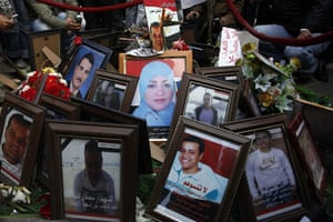 Egypt Day 19: Pictures of Egyptians martyrs who were killed during recent protest