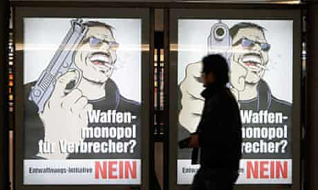 Activists in Switzerland's gun law reform referendum used graphic images in their campaign