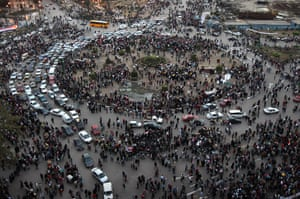 Egypt update: Traffic moves through Tahrir Square
