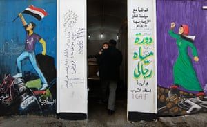 Egypt update: Murals depicting revolutionary scenes cover walls in Tahrir Square