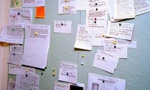 Hilary Mantel's notice board