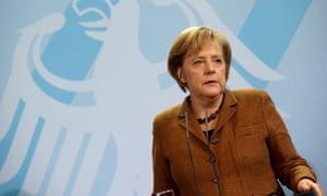 German Chancellor Merkel welcomes NATO Secretary General