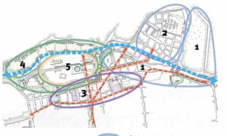 Five 'hearts' have been identified for Granton, including 1. Old Granton, 2. New Granton, 3, the town centre, 4. parkland, 5. the village   picture: City of Edinburgh Council