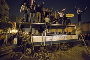 sean smith in tahrir sq : Protesters celebrate the news of Mubarak's resignation