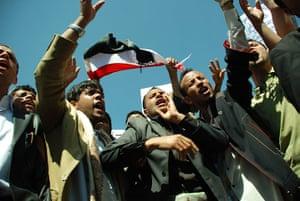 Arab unrest: Yemeni anti-government protesters